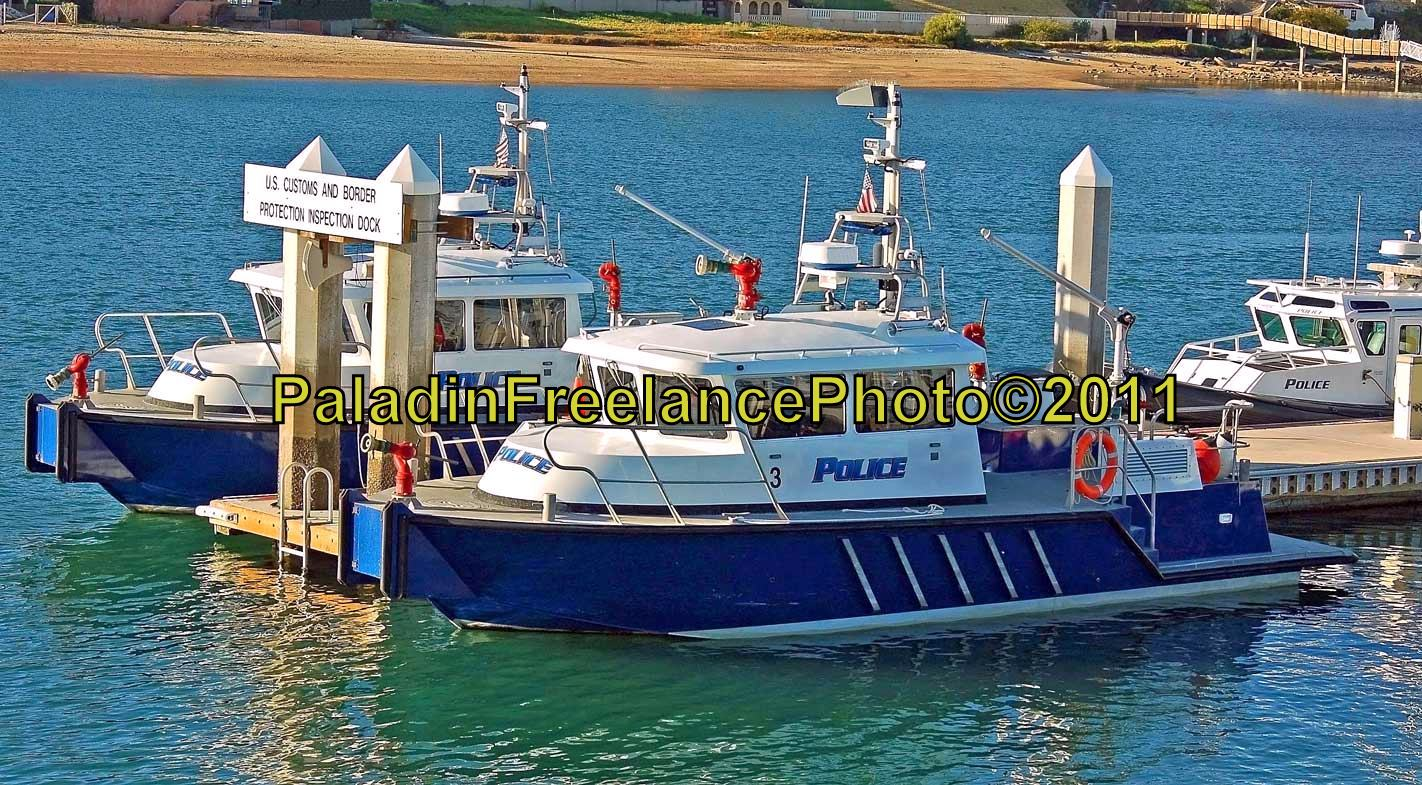 Harbor Police Boats awaiting another day of patrol.