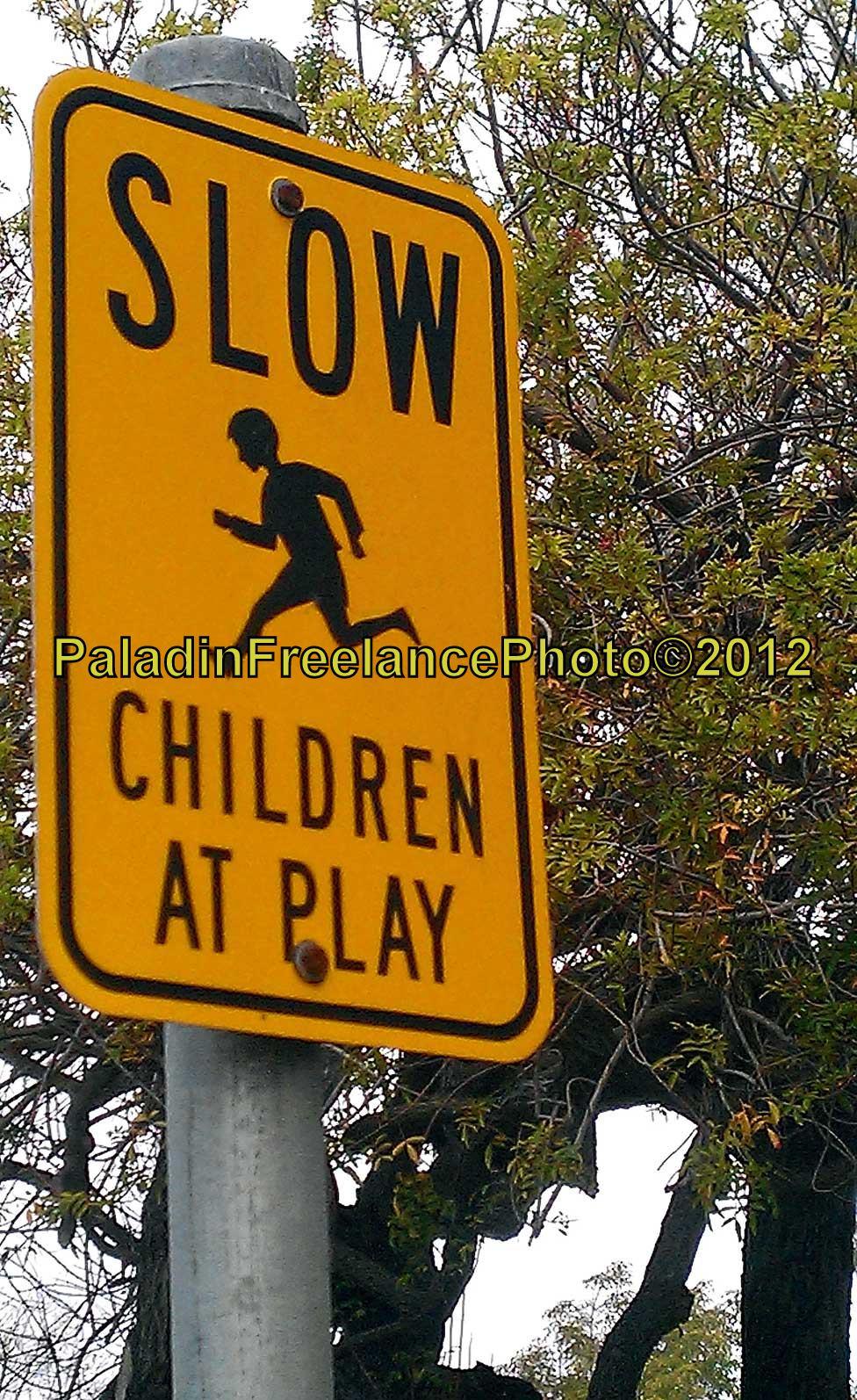 """Children Playing"" Traffic Warning"